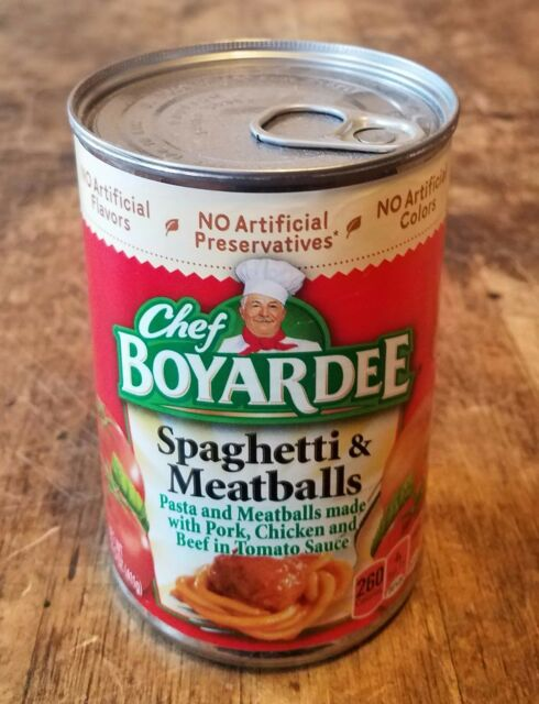 Diversion Can Stash Secret Safe Chef Boyardee Spaghetti & MB 15 oz Magnetic