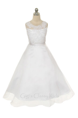 New Flower Girls Dress First Holy Communion Wedding Pageant Easter Formal 8031