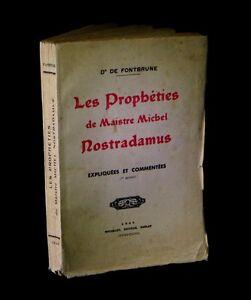 ESOTERISME-OCCULTISME-FONTBRUNE-Les-Propheties-de-Maitre-Nostradamus