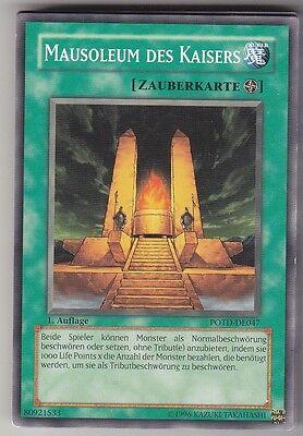 Yugioh POTD-DE047 Mausoleum des Kaisers 1 Auflage