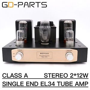 Class-A-Single-End-EL34-Tube-Integrated-Amplifier-Hifi-Stereo-Vintage-Tube-AMP