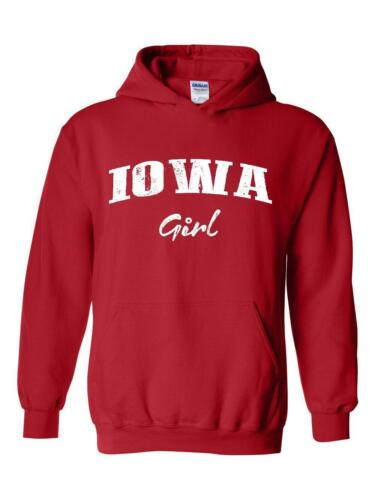 IA Girl Iowa Flag Des Moines Flag Cyclones Hawkeyes Home Hoodie Sweatshirt