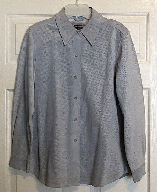 5214b40a6 Women s Fall Liz Claiborne Baby Blue Soft Suede Jacket