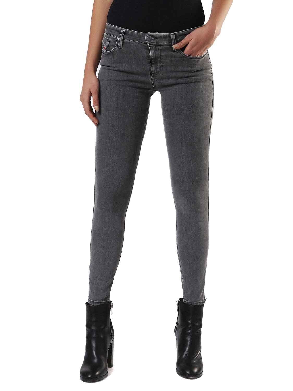 Diesel Skinzee-Zip 0681F Elasticizzato Jeans Pantaloni women Magro Magro