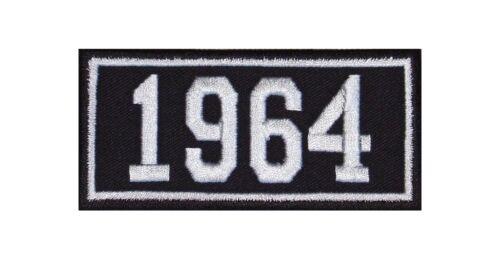 1964 Biker Patch ricamate anni numero anno di nascita BIRTH year ROCKER MOTO MC