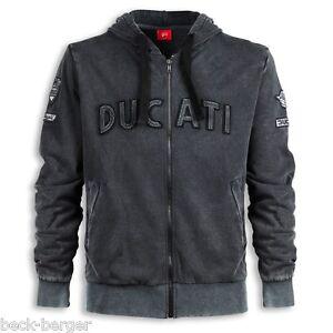 Ducati-Historique-Veste-Sweat-Pull-Sweat-a-Capuche-Vintage-Retro-Gris-Neuf