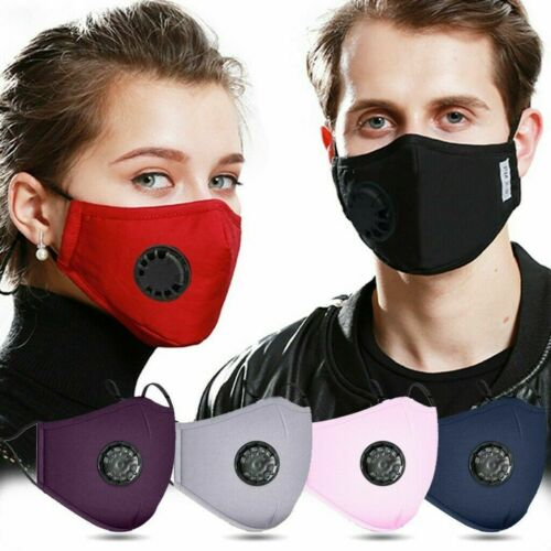 Reusable-Face-Mask-Air-Purifying-Cotton-Mouth-Cover-Anti-fog-PM2-5-w-2-filter