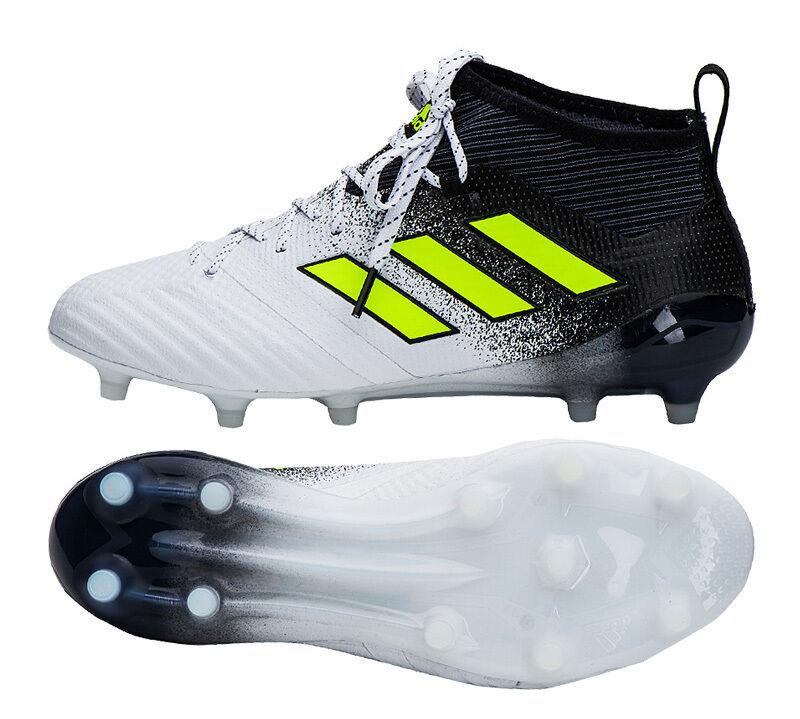 Adidas ACE 17.1 FG-S77035 Fútbol Fútbol Tacos Zapatos botas blancoo Negro