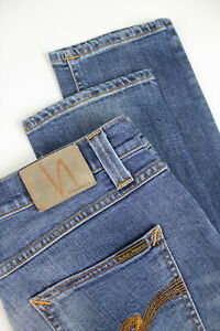 RRP-120-NUDIE-LEAN-DEAN-SHELTER-WORN-Men-039-s-W29-L32-Faded-Blue-Org-Jeans-4324-mm