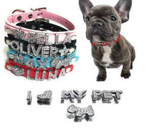 Image is loading Pet-Personalized-Collar-Crystal-Rhinestones-Names-for-Dog- f31842523509