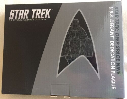 Defiant dedication plaque replica-schiffsplakette Star Trek ds9 nuevo Eaglemoss