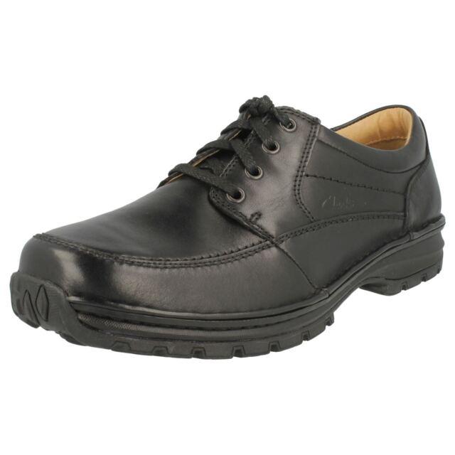 Hombre Clarks Active Air corte ancho zapatos Sidmouth milla 44 negro