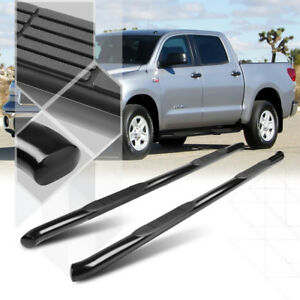 Black-3-034-Side-Step-Nerf-Bar-Running-Board-for-07-16-Tundra-Ext-Crew-CrewMax-Cab