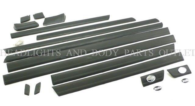 New! AUDI 100 C4 91 - 94 A6 94 - 97 Upper + Lower Door Moulding Molding Trim Set