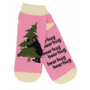 Hatley-No-Slip-Ankle-Socks-WOMENS-Medium-BEAR-HUG-Tree-Friendly