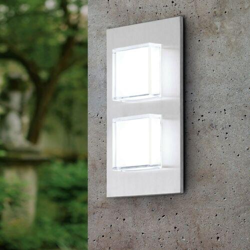 EGLO 93365 PIAS LED Esterno-Lampada da parete 2-bruciatori in acciaio inox