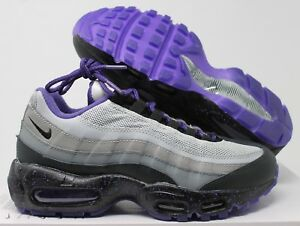 50adf7bf3c Nike Men Air Max 95 iD Grey-Black-White-Purple sz 6 [818592-995 ...