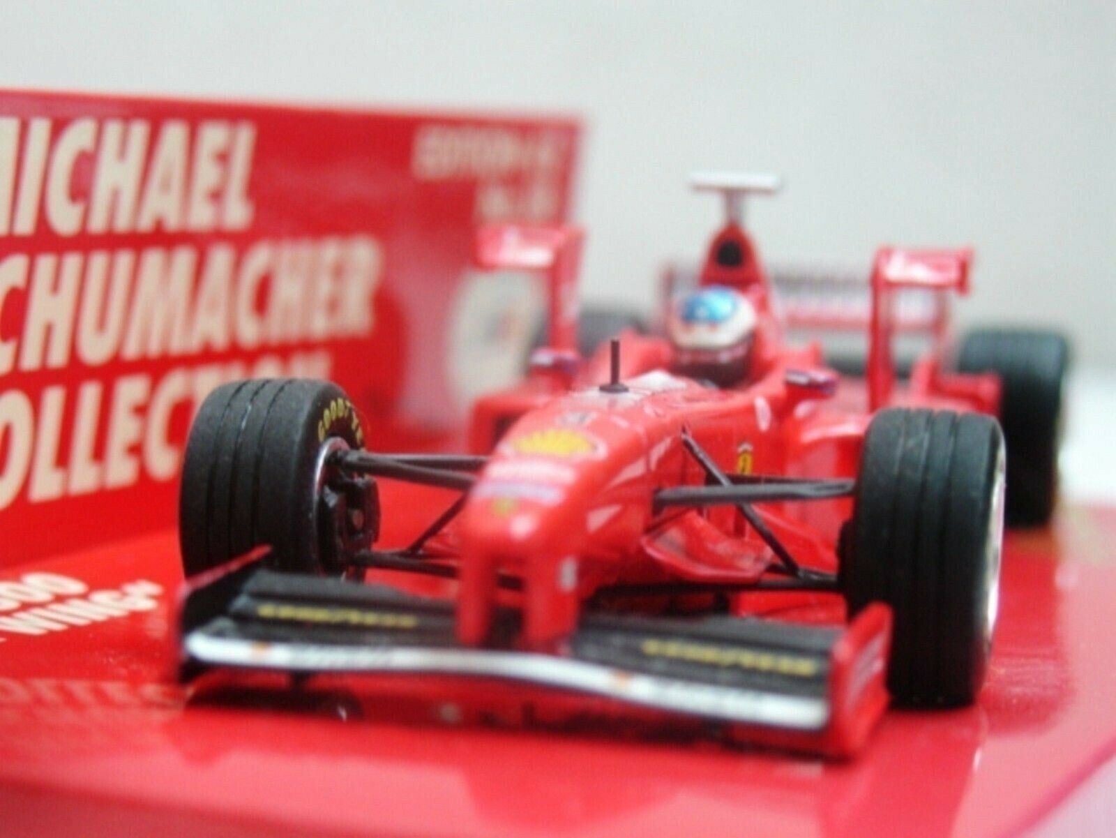 WOW EXTREMELY RARE Ferrari F300 Schumacher 38 Tower Wings 1998 1 43 Minichamps