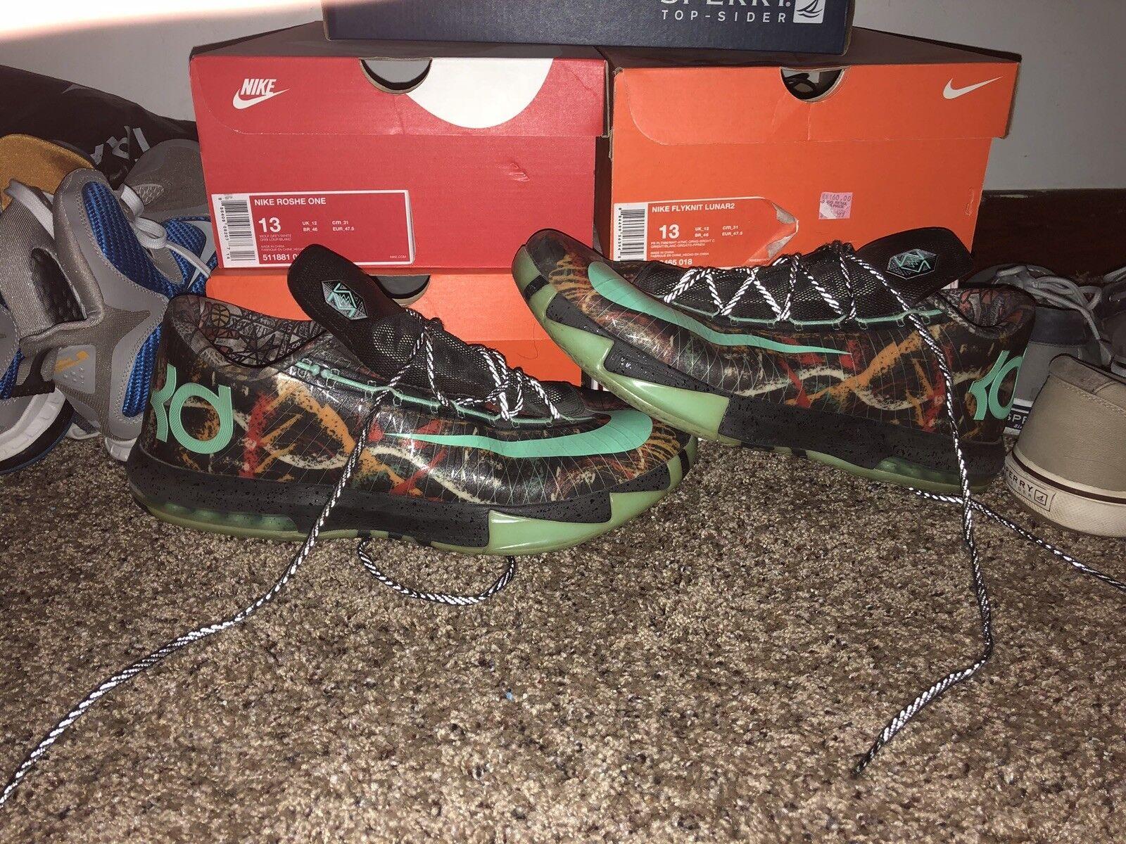 Nike KD VI AS 'All-Star' Multi-Color/Green Glow-Black, men's size 14