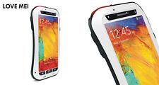 Love Mei Metallgehäuse Samsung Galaxy Note 3 Wasserdicht Stabiles Schutz weiß