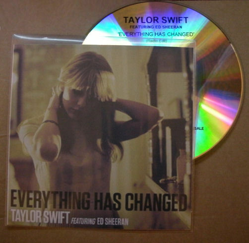 Taylor Swift Ft. Ed Sheeran - Everything Has Changed - 1 Track Promo CD
