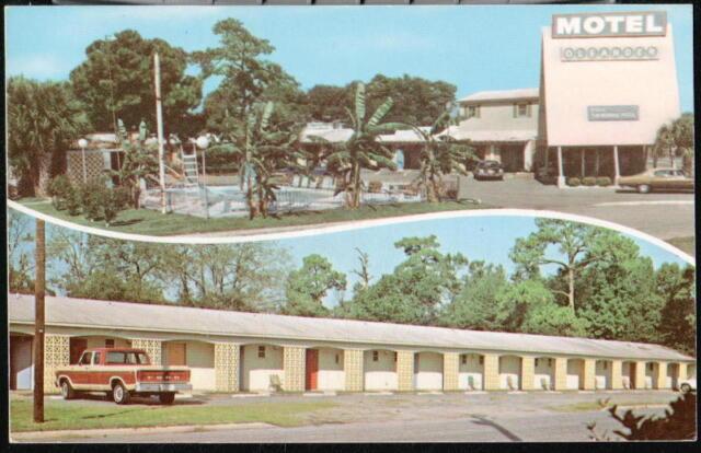 BRUNSWICK GA Oleander Motel Vintage 1960's Truck Car ...