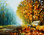 """16X20/"""" DIY Paint By Number Kit Oil Painting On Canvas Forsest Fall W//N Frame2141"""