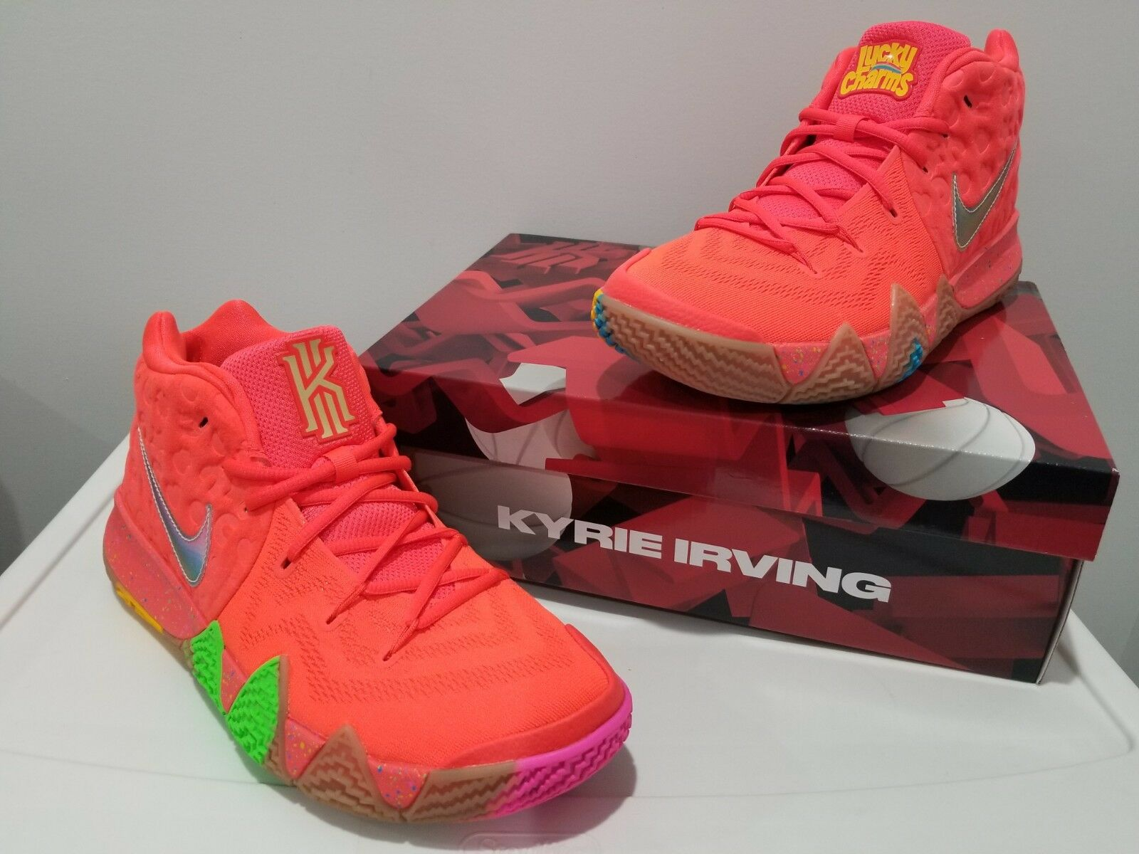 New 2018 Nike Kyrie 4 Lucky Lucky Lucky Charms BV0428-600 Cereal Pack Mens shoes DS Size 11 614472