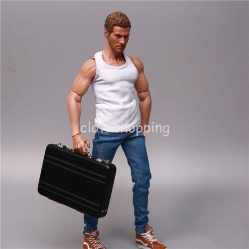 """1//6 DOLLARI USA EURO SOLDI VALIGIA RIVISTA modello per 12/"""" Figura Hot Toys"""