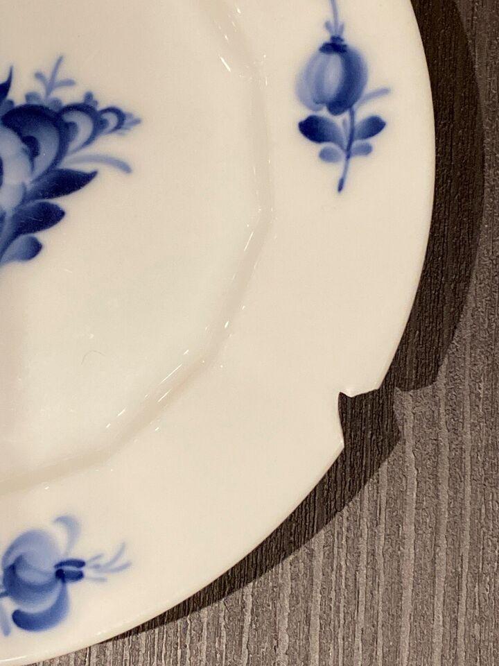 Porcelæn, Kagetallerken / sidetallerken , Blå blomst