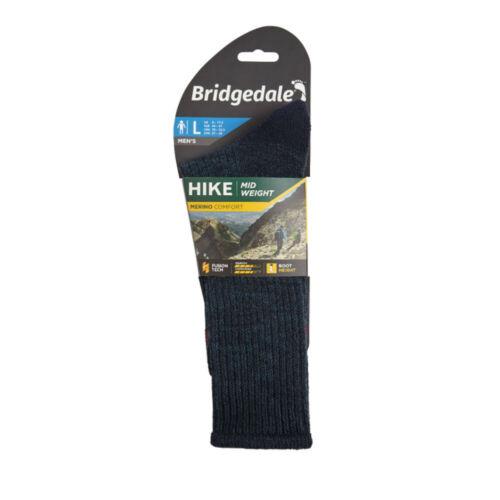 Bridgedale Homme Randonnée Poids Boot Merino Confort Bleu Marine Chaussettes Outdoors
