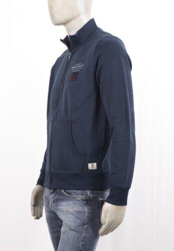 Markup Uomo Ricamati Tasche Vintage Aperta Toppe Con Felpa Zip Blu Logo E 1Hx5q5Rw
