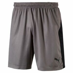 Details zu Puma Fußball Liga Shorts Herren kurze Hose Männer grau schwarz