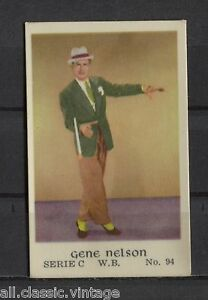 Gene-Nelson-Vintage-Movie-Film-Star-Trading-Card-Warner-Bros-C-94