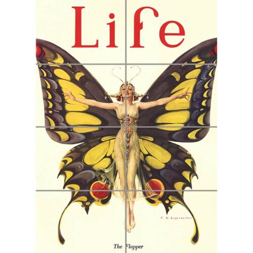 Magazine 1922 Life Butterfly Dance Wall Art Panel Poster Print 33X47 Inches