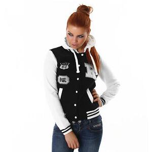 College Sexy Hooded 12 Sort 10 Baseball Ladies Jacket ❤fox Ny Collegiate 61❤ q74155