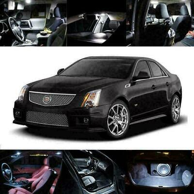 18pcs LED Xenon White Light Interior Package Kit for CADILLAC CTS 2008-2015