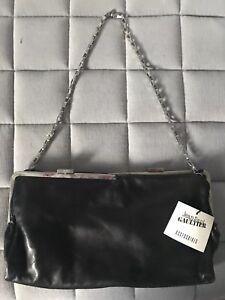 With Jean Leather Clutch Paul Handbag Black Silver Gaultier Chain qwYSw