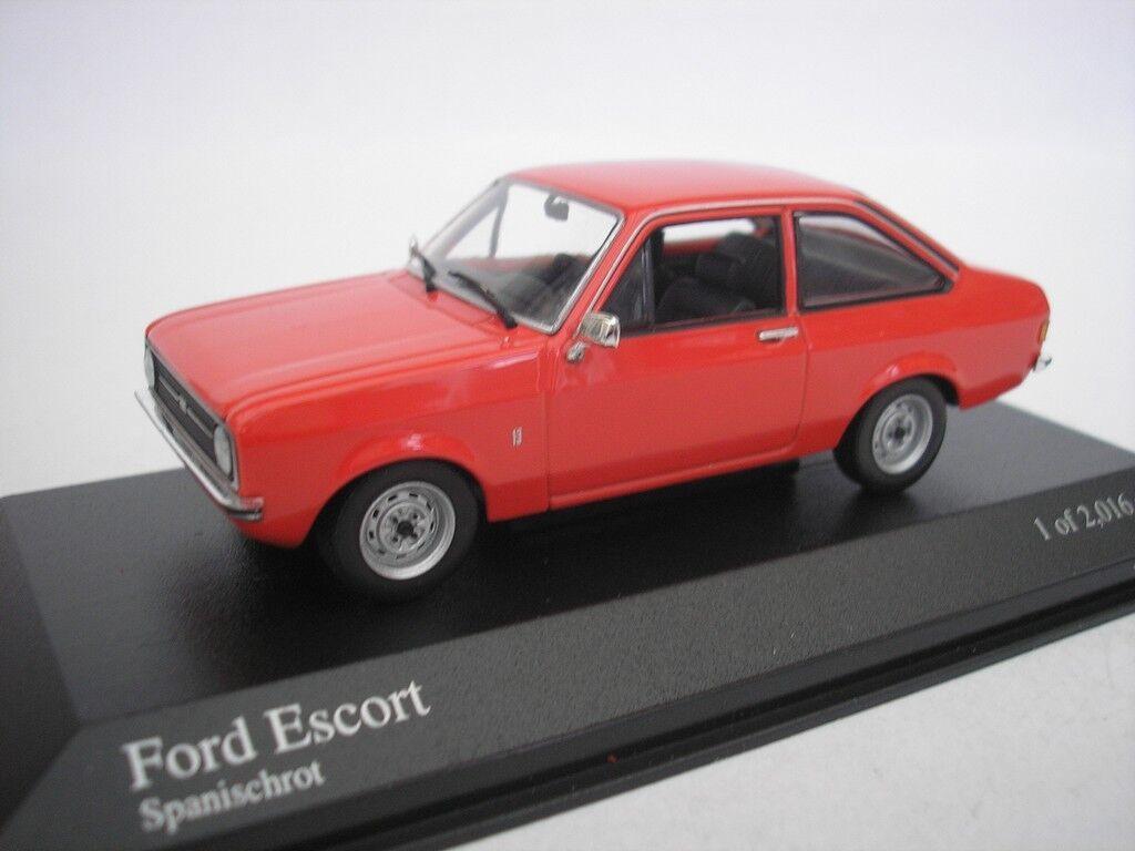 Ford Escort II 1975 Spanish Red 1 43 Minichamps 400084100 NEW