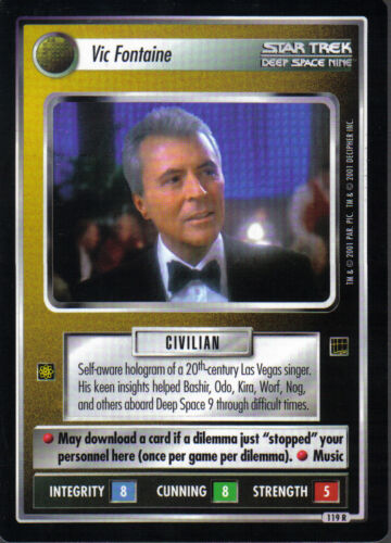 STAR TREK CCG HOLODECK RARE CARD VIC FONTAINE