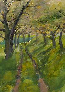 Carl-WALTHER-1880-1956-Flurweg-bei-Goppeln-1903-Aquarell
