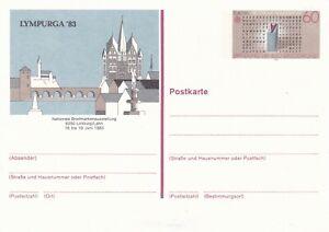 Brillant Allemagne 1983 Lympurga 83 60pfg Postal Stationary Carte Inutilisée-afficher Le Titre D'origine Promouvoir La Santé Et GuéRir Les Maladies