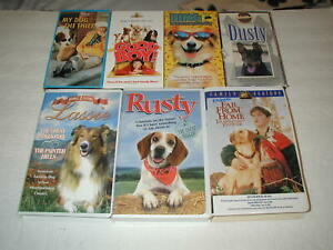 FAMILY-MOVIES-WITH-DOGS-7-PACK-VHS-MOVIE-LOT-RARE-OOP-HTF
