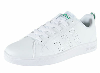 Boys Girls White Green Shoe Adidas Advantage Clean Kid/'s Shoes AW4884