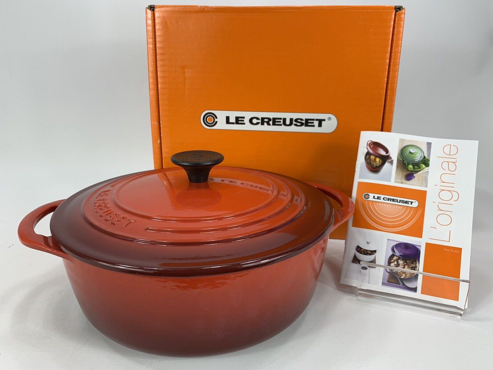 Le Creuset Nouveau 2.75 QT QT Round Casserole néerlandais Four Rouge Cerise finition glacée