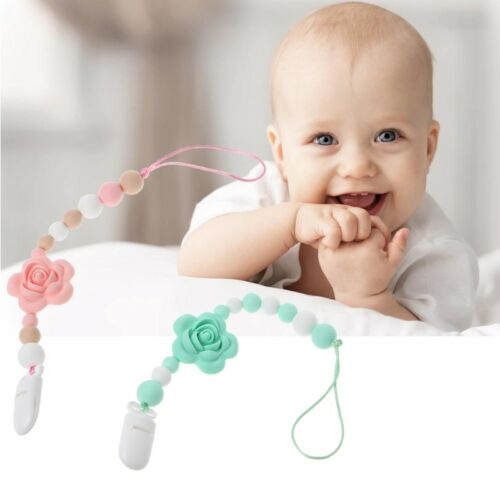 Baby Dummy Clip BPA Free Silicone Pacifier Clips Teether Soother Pacifier Chain