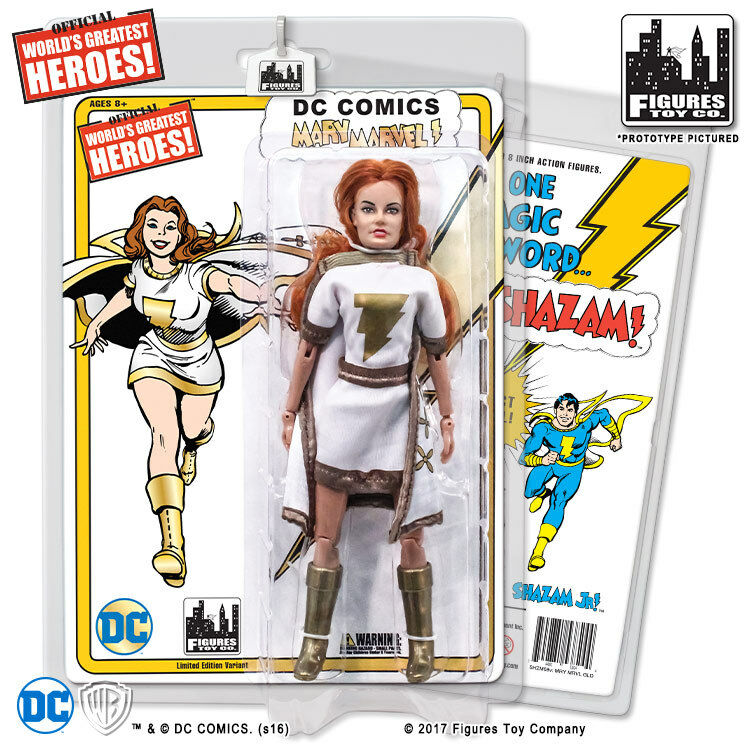 DC Comics Shazam Retro Style Mary Marvel Action Figure (bluee gold Variant)