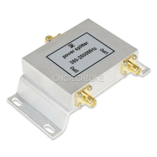 New Power Splitter,Power Divider Combiner SMA 1 to 2 way 380-2500MHz