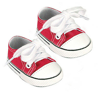 Pink  Canvas Slip on Sneakers with Rubber Toe Fits 18 inch American Girl Dolls