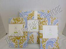 Pottery Barn Ava Fleur De Lis Floral flower Bed Duvet Cover Full queen FQ Shams